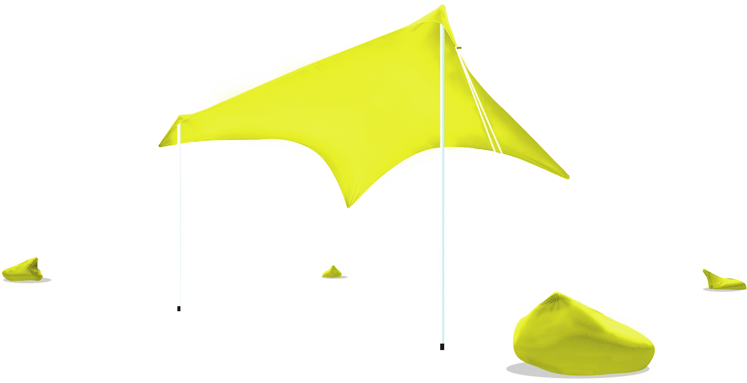 Otentik beach shade yellow